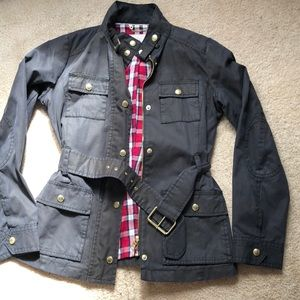 Navy blue utility jacket